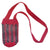 Fair-Trade Bottle Carrier/Wine Tote with black and red stripes (WCI110)