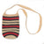 Fair-Trade Bottle Carrier/Wine Tote with black and red bands (WCM139)