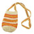 Fair-Trade Bottle Carrier/Wine Tote with orange and yellow double bands (WCP159)
