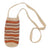Fair-Trade Bottle Carrier/Wine Tote with maroon and orange zig-zag bands (WCQ151)