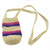 Fair-Trade Bottle Carrier/Wine Tote with double purple and pink bands (WCR353)
