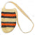 Fair-Trade Bottle Carrier/Wine Tote with double orange and black bands (WCT140)