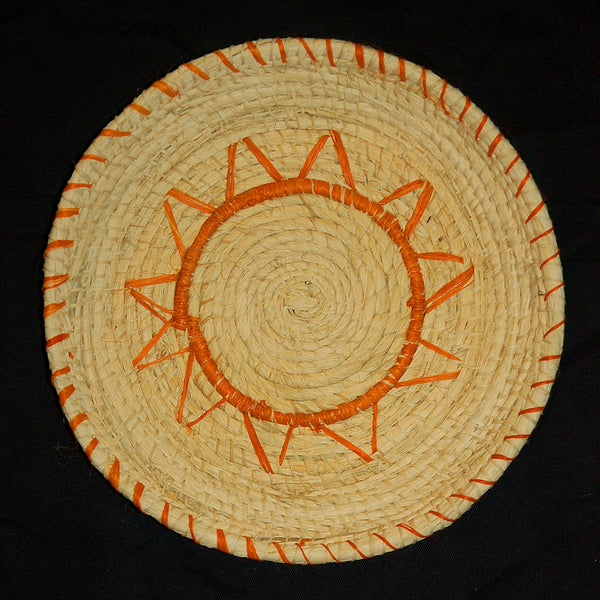 HANDMADE CHAMBIRA PALM FIBER WOVEN PLATE - WPL001 - WOVEN BY ARTISAN FROM PERUVIAN AMAZON