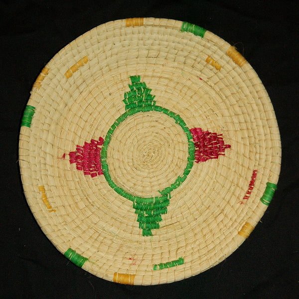 HANDMADE CHAMBIRA PALM FIBER WOVEN PLATE - WPL002 - WOVEN BY ARTISAN FROM PERUVIAN AMAZON
