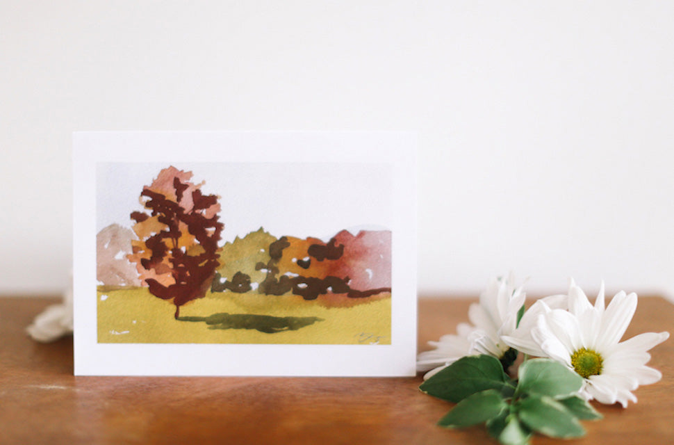 Landscape greeting cards falling leaf card co landscape greeting cards blank m4hsunfo
