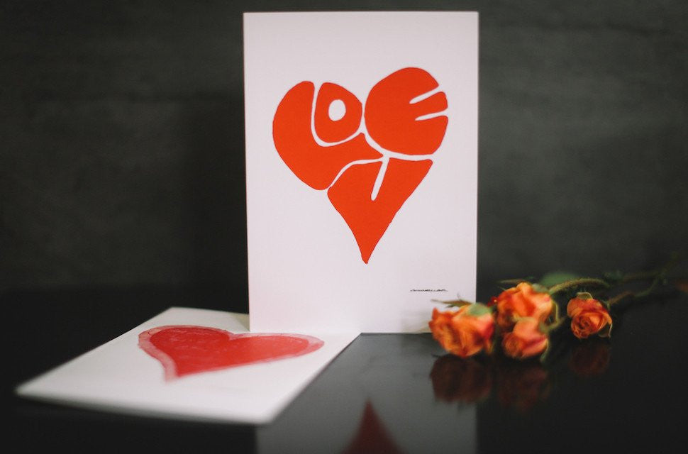 Artistic Valentine's Day Cards (Blank)