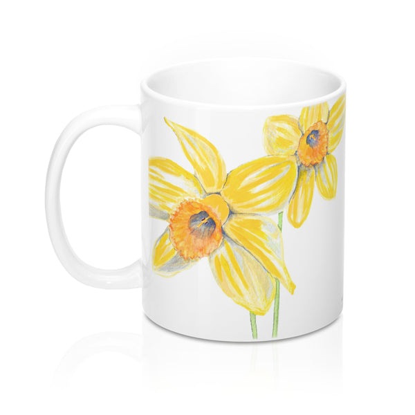 Coffee Mug - Yellow Daffodil - Falling Leaf Card Co.