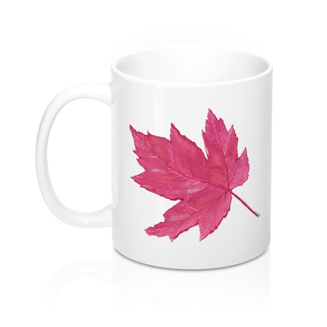 Coffee Mug - Red Maple Leaf - Falling Leaf Card Co.