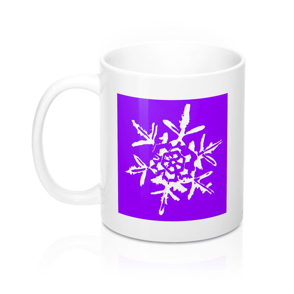 Coffee Mug - Purple Snowflake - Falling Leaf Card Co.