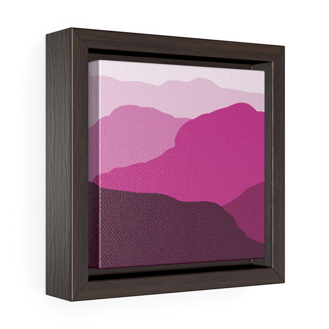 Canvas Wall Print - Red Mountains - Square Framed Premium Gallery Wrap Canvas - Falling Leaf Card Co.