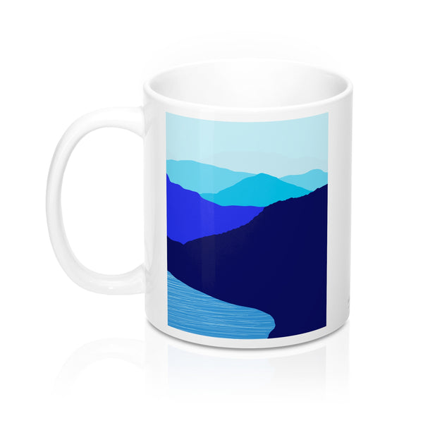 Coffee Mugs - Blue Mountain Lake - Falling Leaf Card Co.