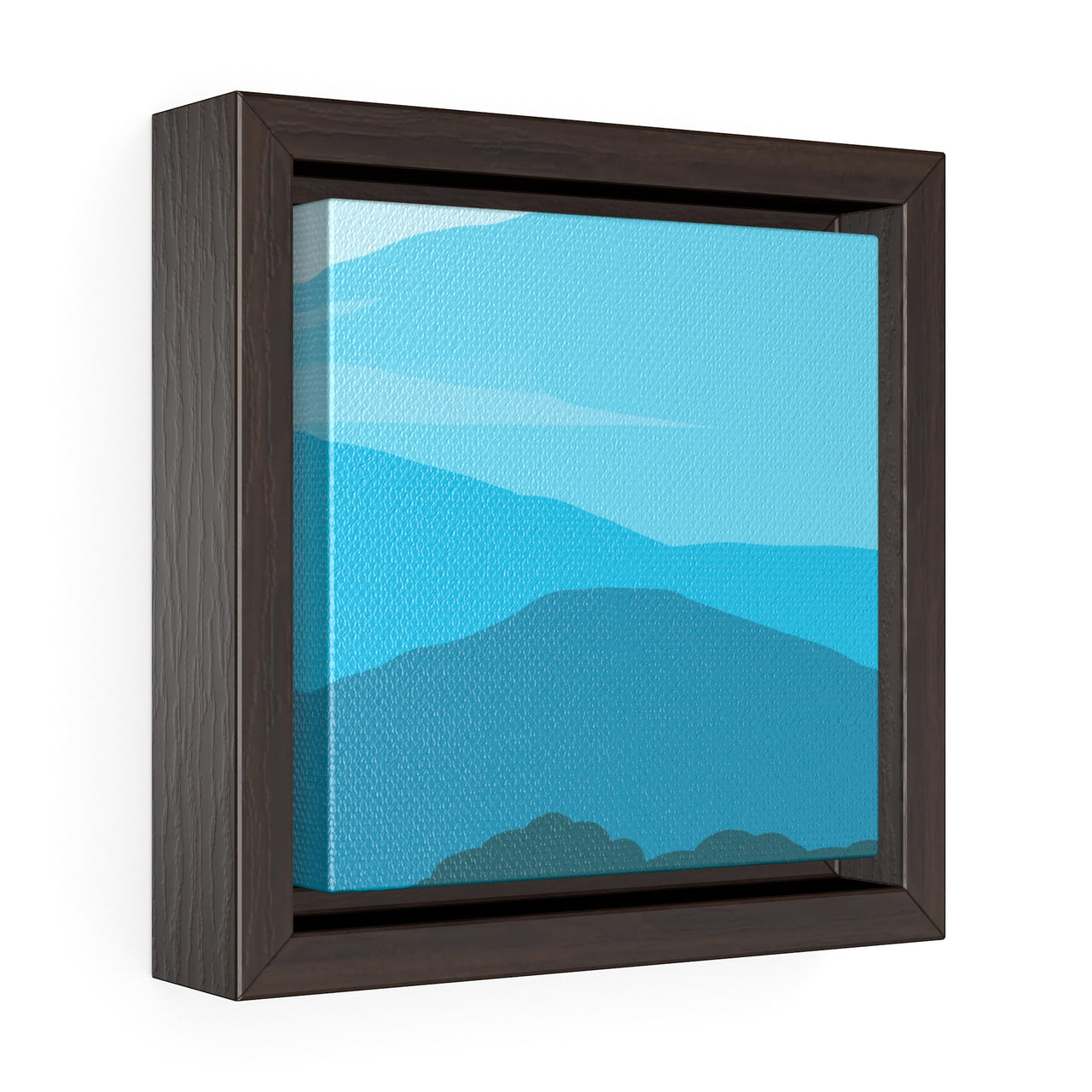 Canvas Wall Print - Blue Ridge Mountains - Square Framed Premium Gallery Wrap Canvas - Falling Leaf Card Co.