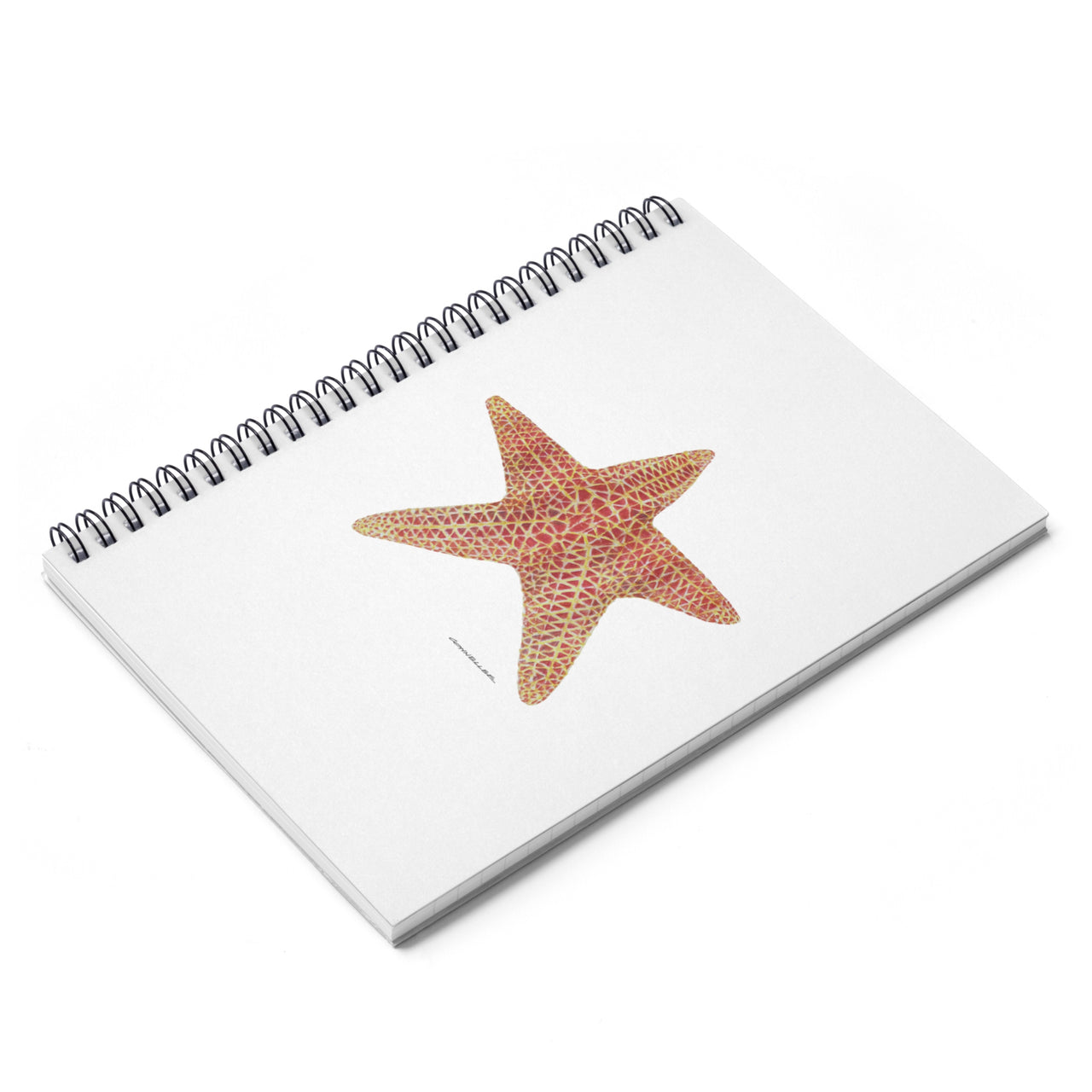 Journal - Sea Star Spiral Notebook - Ruled Line - Falling Leaf Card Co.