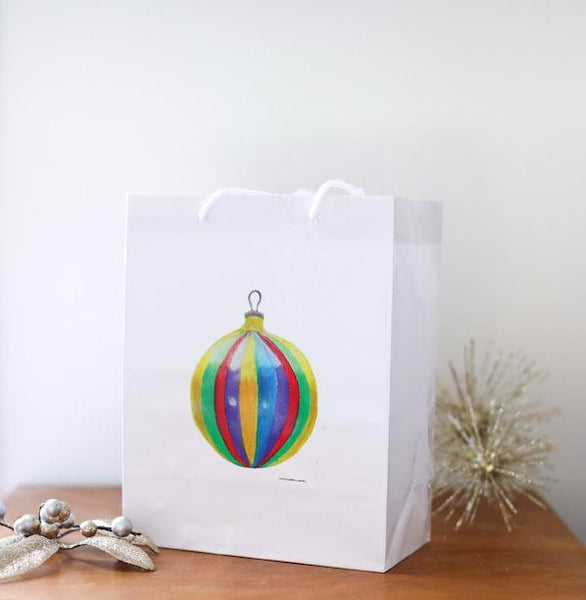 Christmas Bulb Gift Bag - Falling Leaf Card Co.