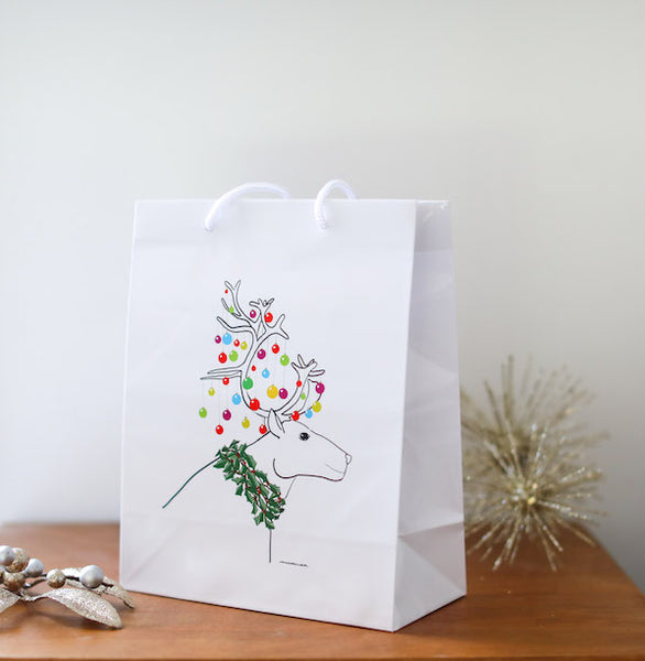 Christmas Reindeer Gift Bag - Falling Leaf Card Co.