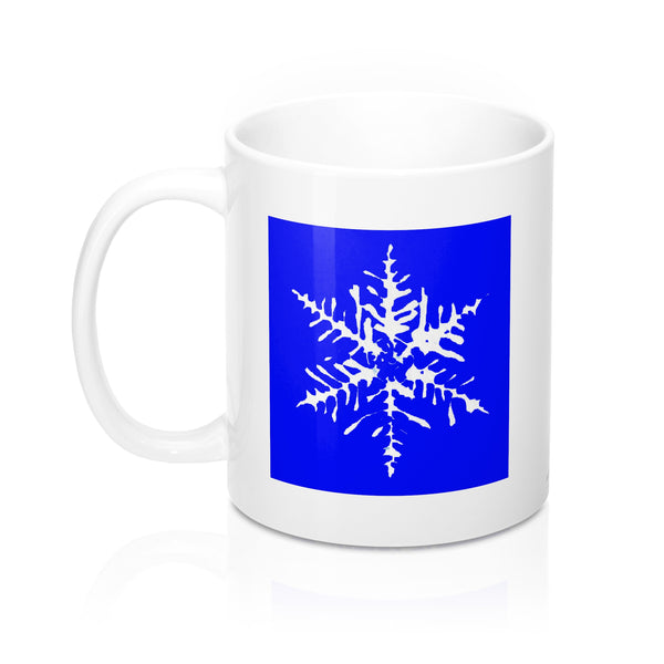 Coffee Mug - Blue Snowflake - Ceramic - Falling Leaf Card Co.