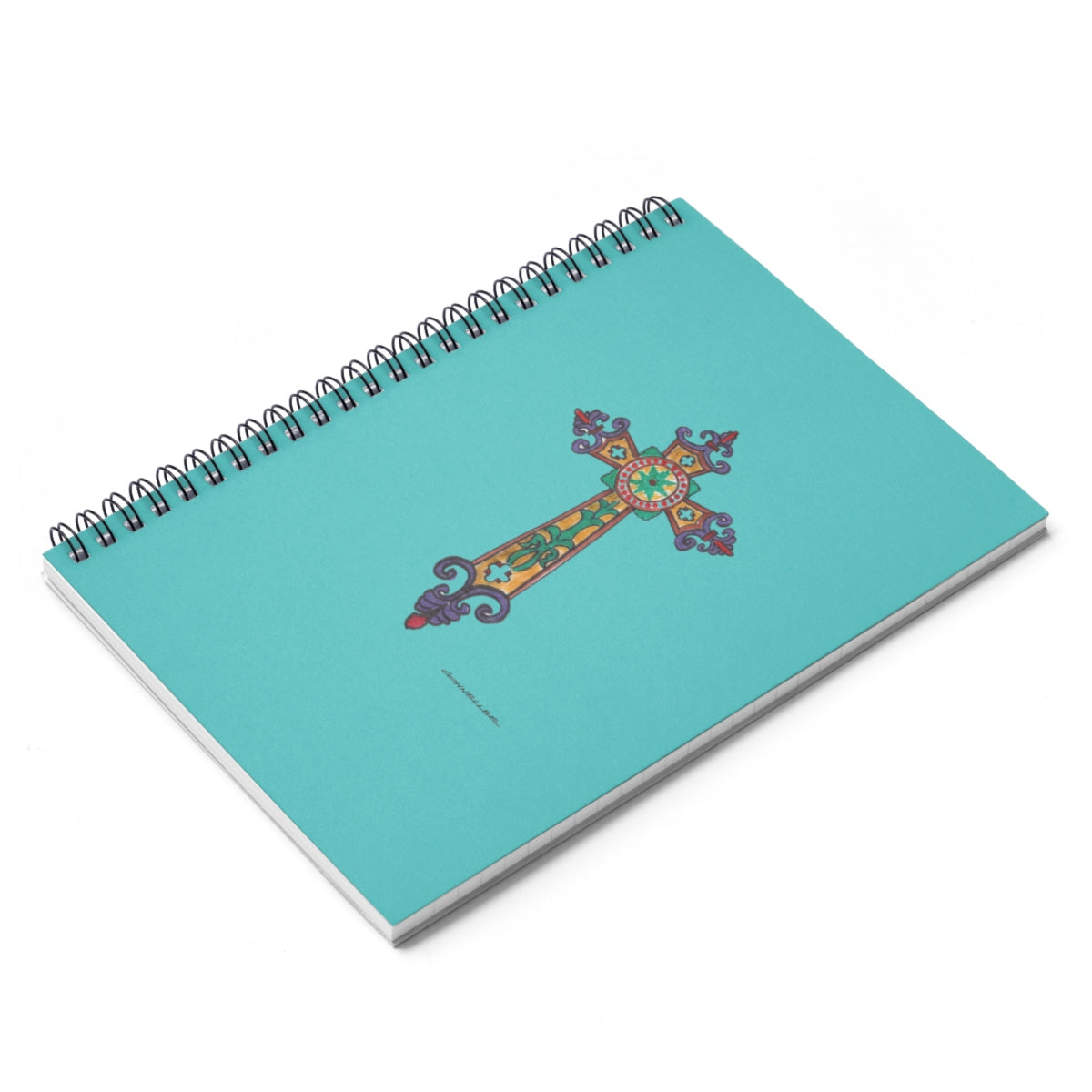 Medieval Cross Spiral Notebook - Ruled Line - Falling Leaf Card Co.