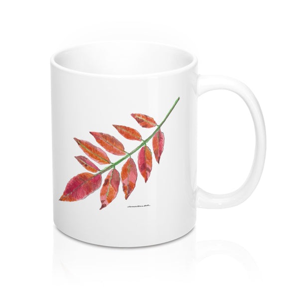 Coffee Mug - Sumac Leaf - Falling Leaf Card Co.