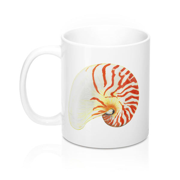 Coffee Mug - Nautilus Shell - Falling Leaf Card Co.