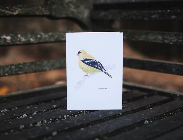 Yellow Finch Thank You Card