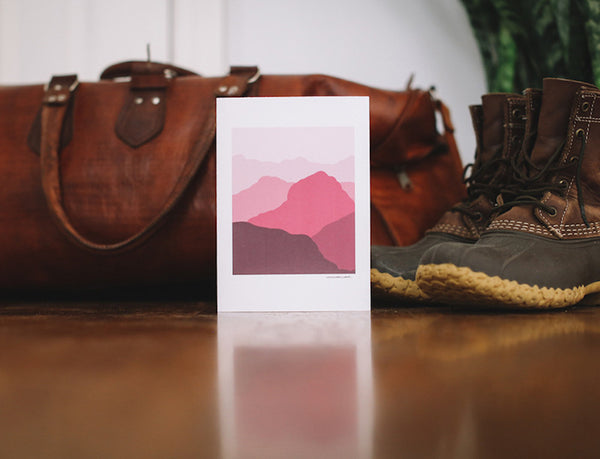 Red Mountains Anniversary Card - Falling Leaf Card Co.