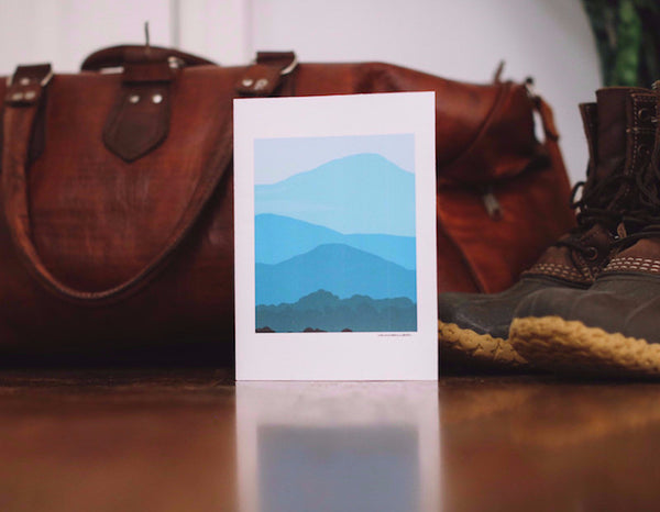 Blue Ridge Mountain Vista Teacher Appreciation Card - Falling Leaf Card Co.