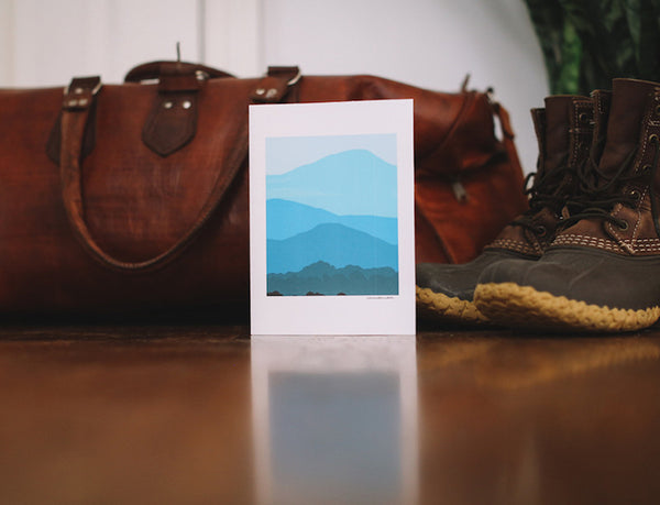 Blue Ridge Mountain Card (Blank) - Falling Leaf Card Co.