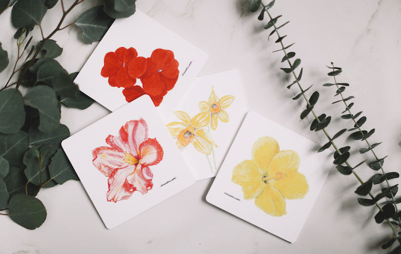 Flower Drink Coaster Collection - Falling Leaf Card Co.
