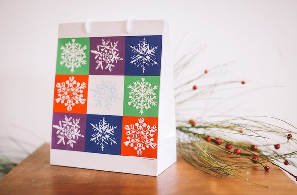 Nine Snowflake Gift Bag - Falling Leaf Card Co.