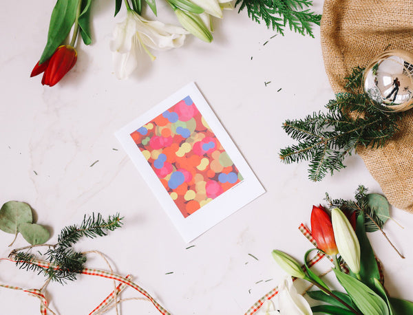 Holiday Lights Greeting Card - Falling Leaf Card Co.