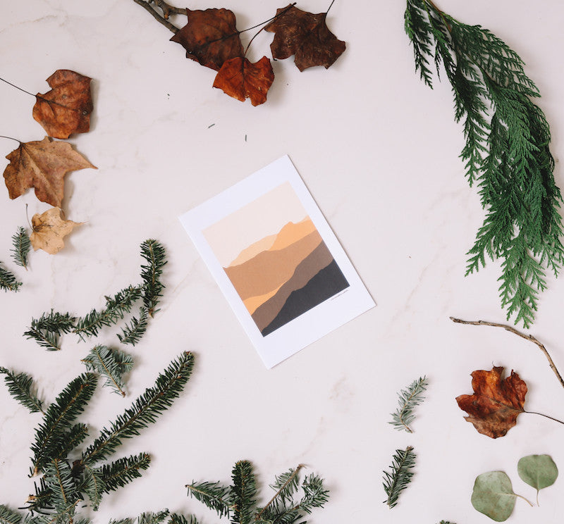 Sand Hills Mountain Wall Print - Falling Leaf Card Co.