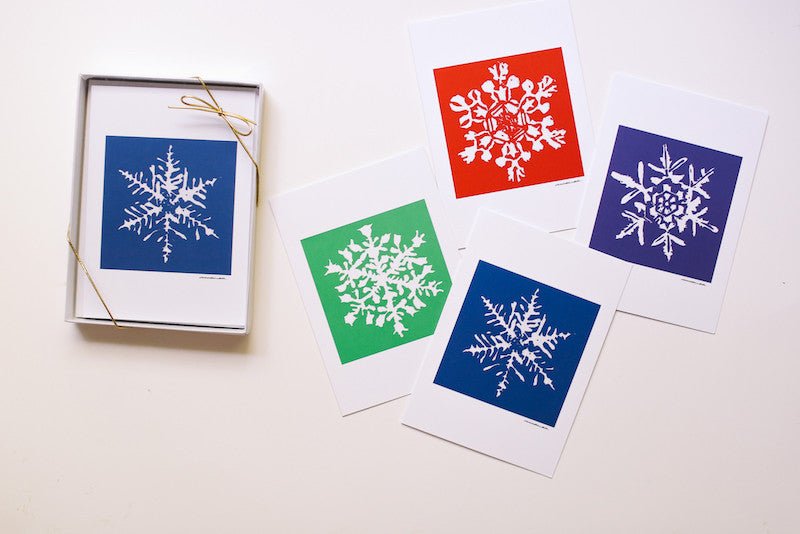 Snowflake Note Cards Box Set (Blank) - Falling Leaf Card Co.