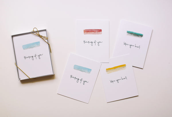MKNZ Note Card Set (Blank) - Falling Leaf Card Co.