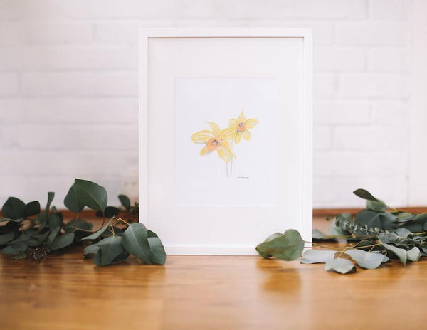Daffodil Wall Art (Framed) - Falling Leaf Card Co.
