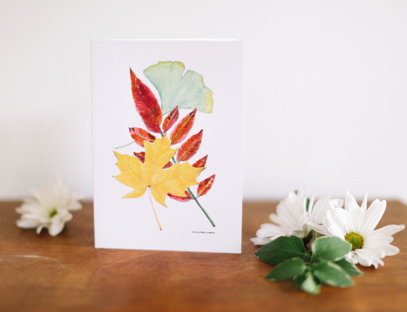 Three Leaf Friendship Greeting Card - Falling Leaf Card Co.