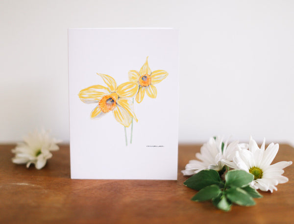 Daffodil Greeting Card (Blank) - Falling Leaf Card Co.