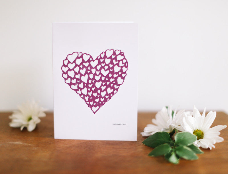 Heart of Hearts Valentine's Day Card - Falling Leaf Card Co.