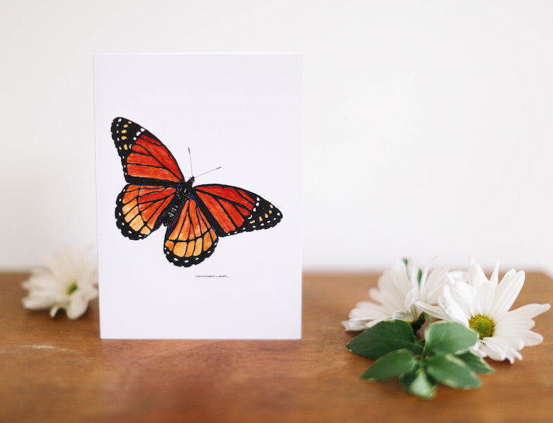 Orange Butterfly Birthday Card - Falling Leaf Card Co.