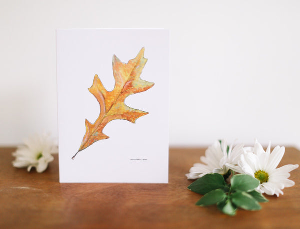 Oak Leaf Greeting Card (Blank) - Falling Leaf Card Co.