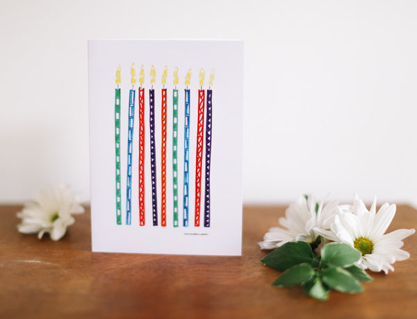 Candle Birthday Card (Blank) - Falling Leaf Card Co.
