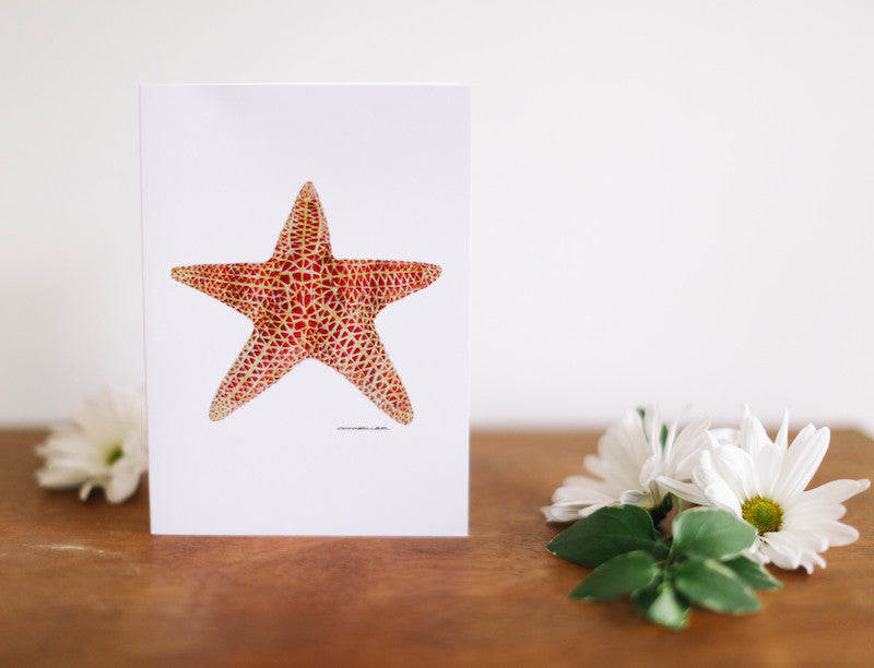 Sea Star Birthday Card - Falling Leaf Card Co.