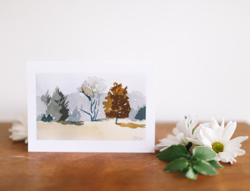 Spring Landscape Note Card (Blank) - Falling Leaf Card Co.