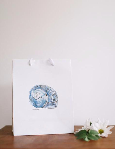 Blue Conch - Seashell Gift Bags - Falling Leaf Card Co.