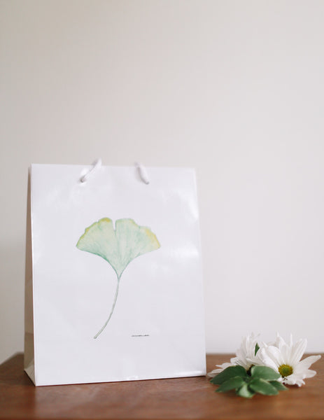 Ginkgo Leaf Gift Bag - Falling Leaf Card Co.