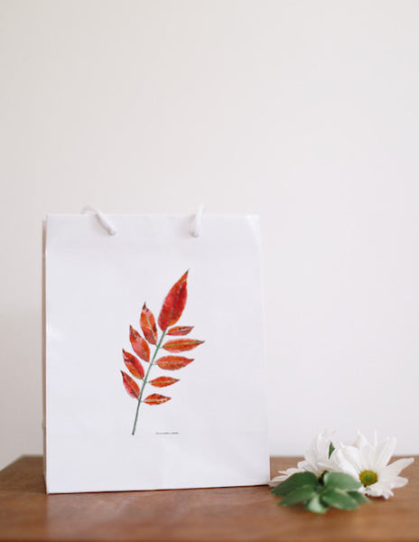 Sumac Leaf Gift Bag - Falling Leaf Card Co.