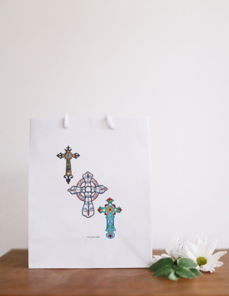 Triple Crosses Gift Bag - Falling Leaf Card Co.