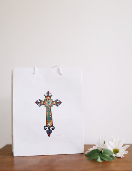Medieval Cross Gift Bag - Falling Leaf Card Co.