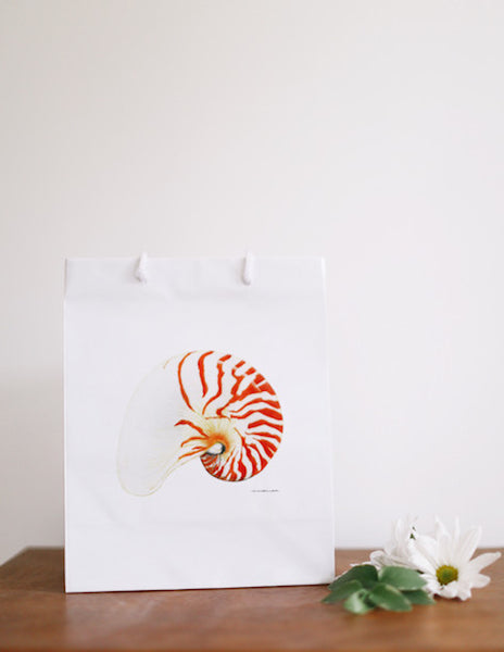 Chambered Nautilus Gift Bag - Falling Leaf Card Co.
