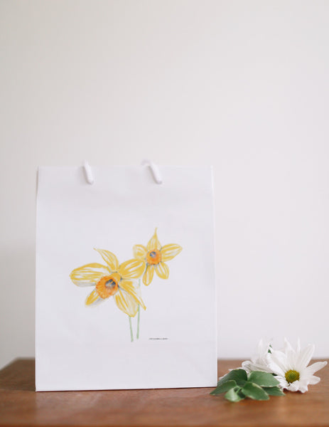 Yellow Daffodils Gift Bag - Falling Leaf Card Co.