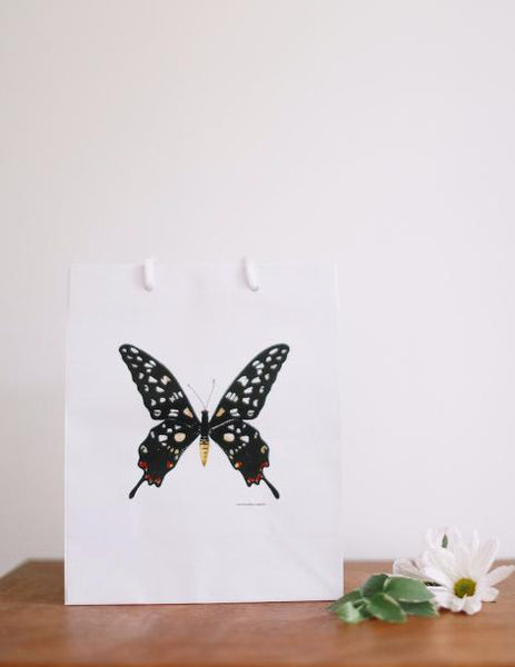 Black Butterfly Gift Bag - Falling Leaf Card Co.